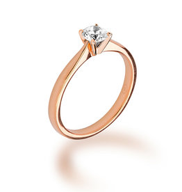 Ma Vie en Rose Gouden Solitair ring - Diamant 0.05 ct - Ma Vie en Rose - 14KT