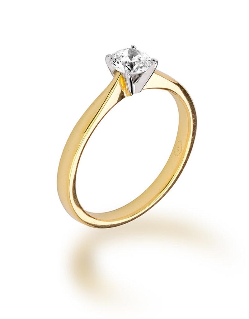 Ma Vie en Rose Gouden Solitair ring - Diamant 0.05 ct - Ma Vie en Rose - 14KT