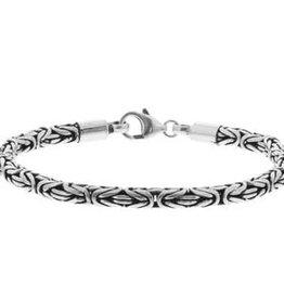 Zilveren armband - Oxide - Koningsschakel - 4,0 mm - 21 cm