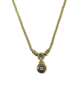 Occasions by Marleen Occasions by Marleen - 14 karaats - Gouden collier - Geel/wit - Briljant 0.10 crt - 43-46 cm
