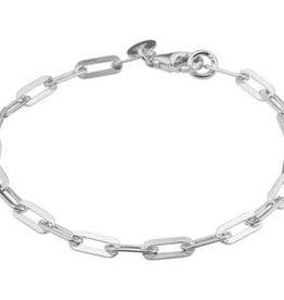 Zilveren armband - Anker -3,7 mm - 19 cm