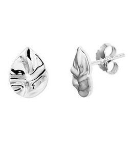 Zilveren oorknoppen - Gerhondineerd - Druppel