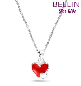 Bellini Bellini for kids - hanger incl. collier - 34 + 2 + 2 - Hartje rood