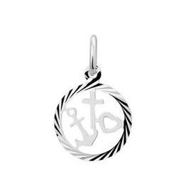 Zilveren hanger - geloof, hoop en liefde - Gediamanteerd