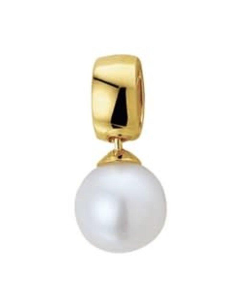 Gouden hanger - 14 karaats - Zoetwaterparel - 8 mm