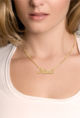 Gouden naamketting model Alina