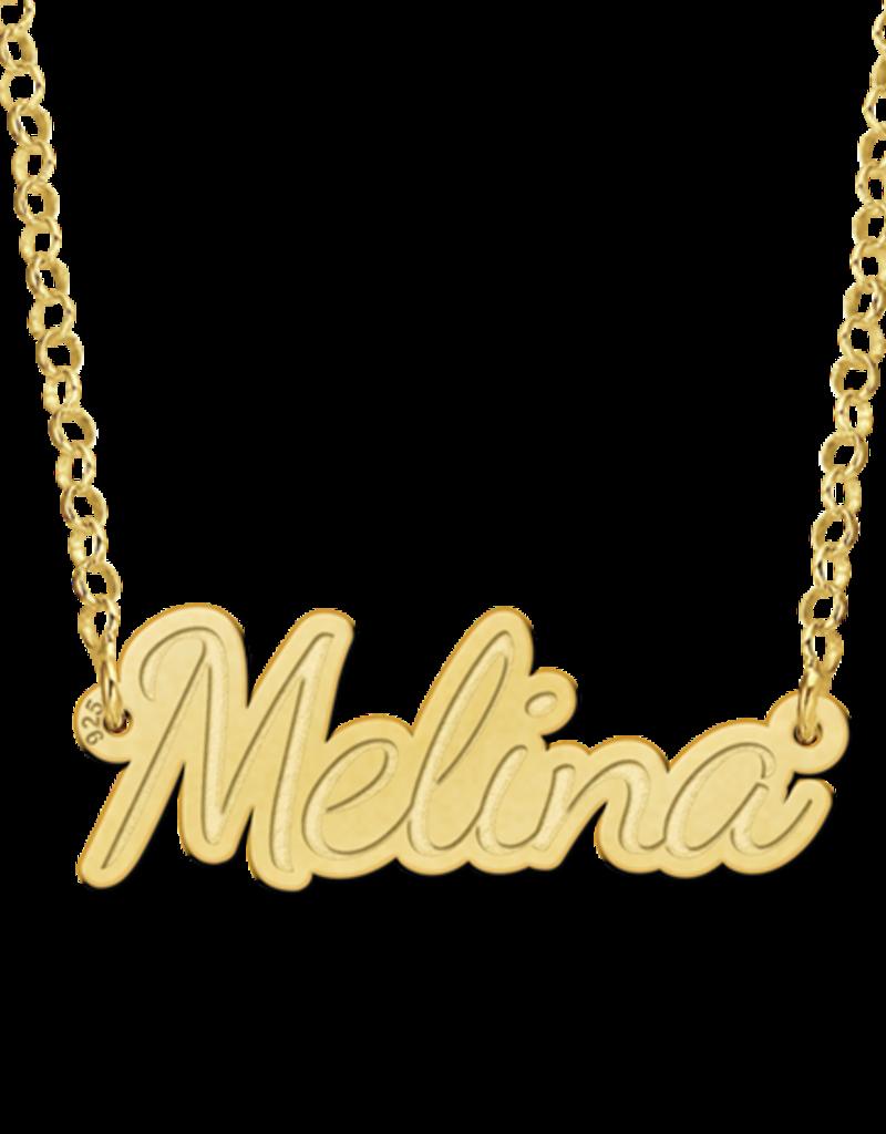 Gouden naamketting model Melina