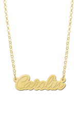 Gouden naamketting model Carolin