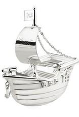van Steyn Geboortecadeau - Verzilverde spaarpot - Piratenboot