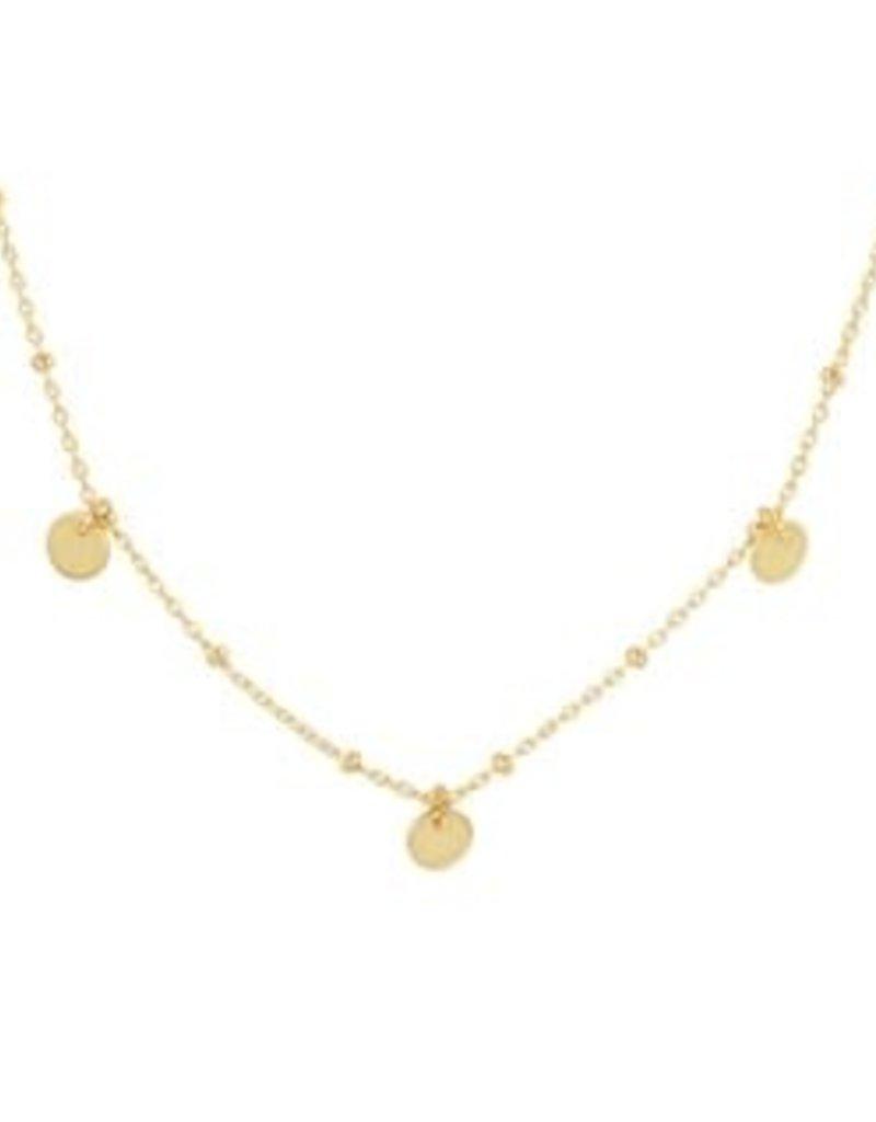 Gouden collier - Rondjes - 1,3 mm - 41 + 3 cm