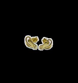 Occasions by Marleen Occasions by Marleen - 14 karaats - Gouden oorknoppen - Zirkonia