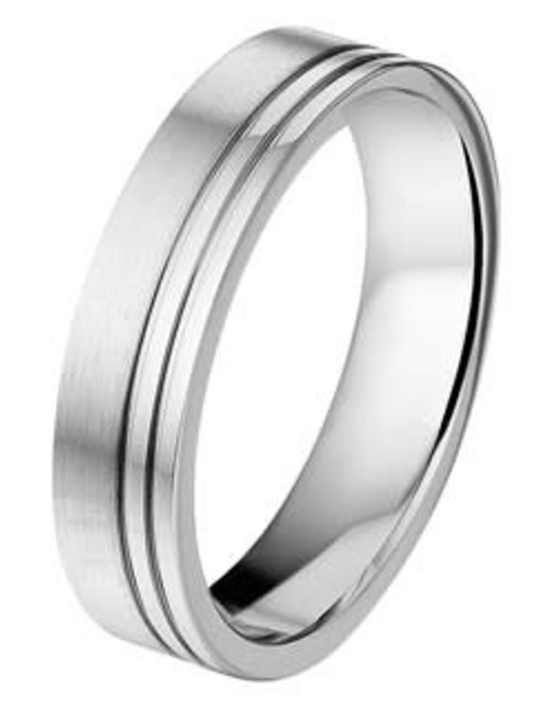 Amorio Relatiering - Staal - A502 - Zonder steen - 5.5 mm