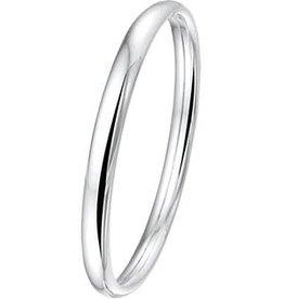 Zilveren Bangle - 7 mm - Ovale buis - Dopsluiting - 60