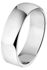 Amorio Relatiering - Zilver - A106 - Zonder steen - 6.0 mm