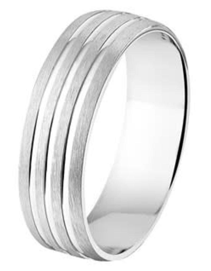 Amorio Relatiering - Zilver - A107 - Zonder steen - 6.0 mm