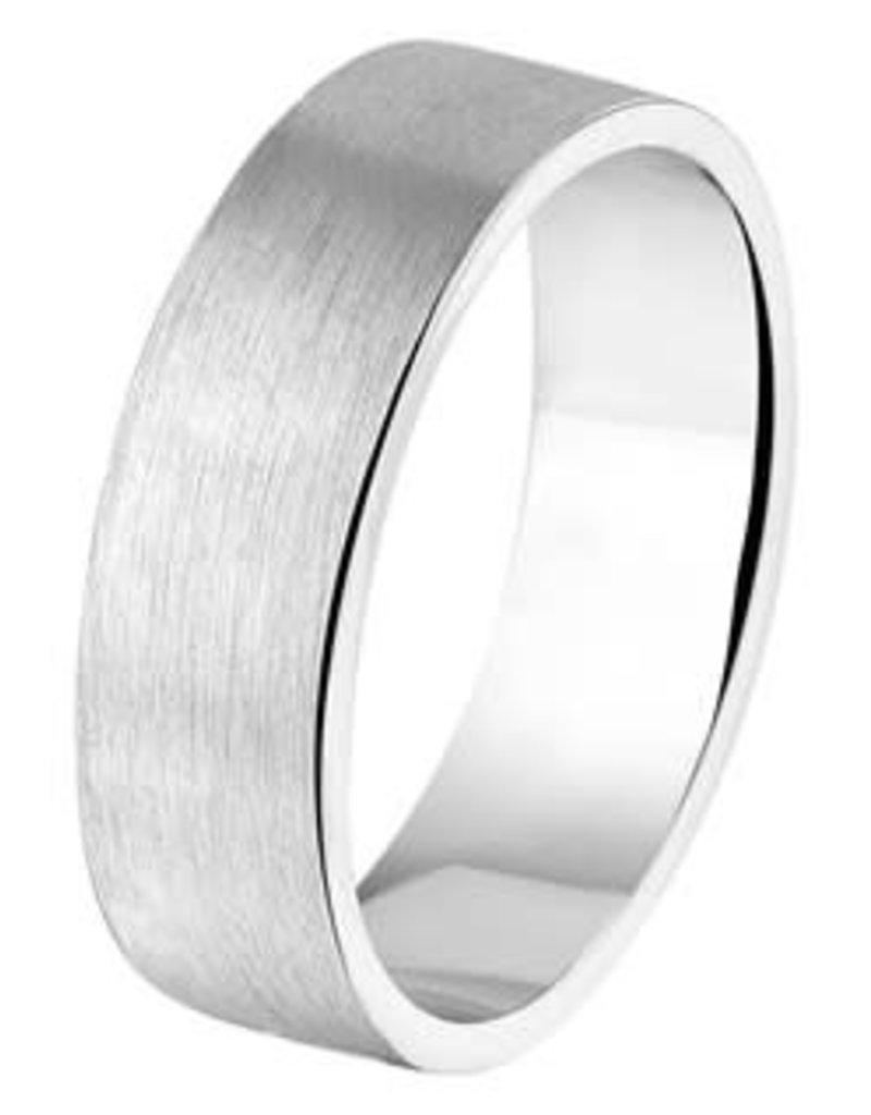 Amorio Relatiering - Zilver - A110 - Zonder steen - 6.0 mm