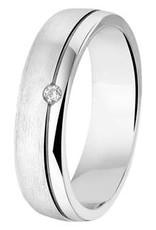 Amorio Relatiering - Zilver - A201 - Zirkonia - 5.0 mm