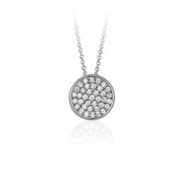 Gisser Zilveren collier met hanger  - Gerhodineerd - Zirkonia - 42+3 cm