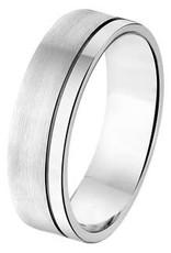 Amorio Relatiering - Zilver - A203 - Zonder steen - 6.0 mm