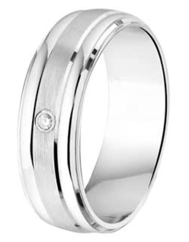 Amorio Relatiering - Zilver - A204 - Zirkonia - 6.0 mm