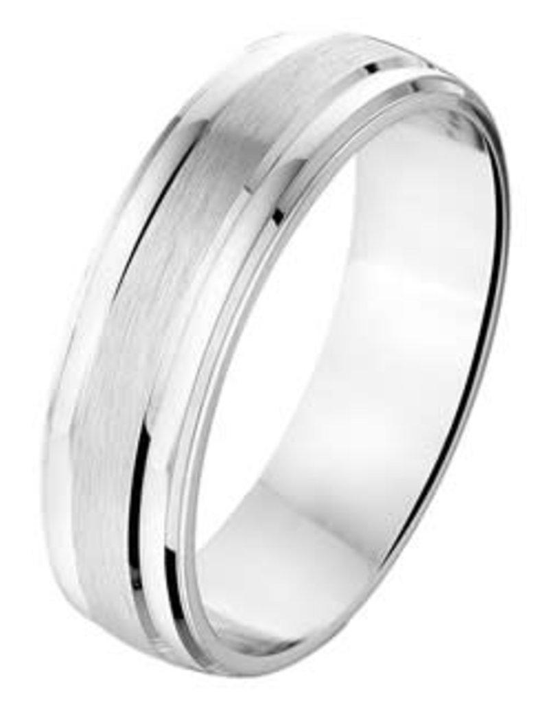 Amorio Relatiering - Zilver - A204 - Zonder steen - 6.0 mm