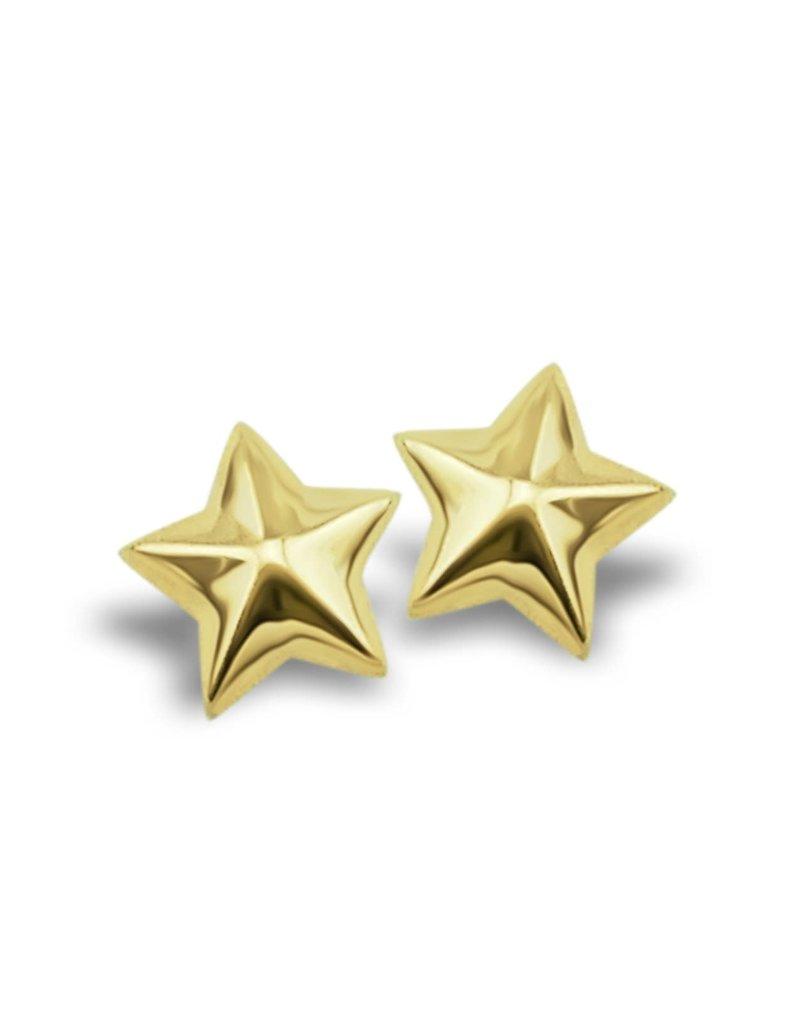 Jwls4u Jwls4u Star 3D Goldplated JE005G