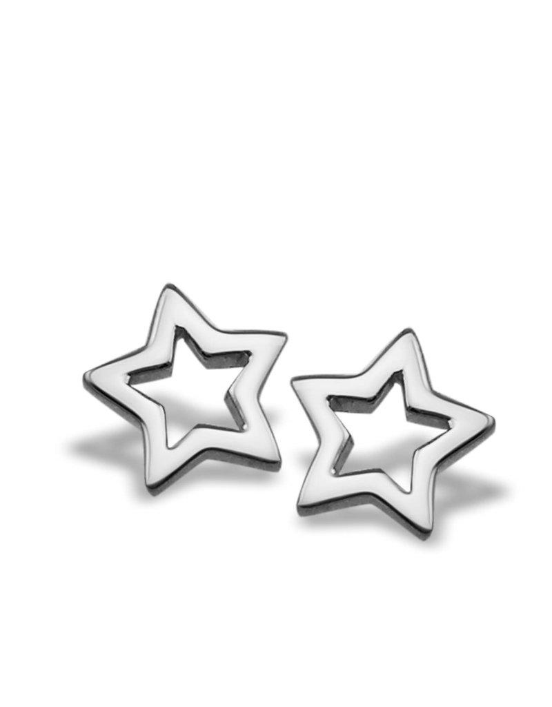 Jwls4u Jwls4u Earstuds Star Open Silver