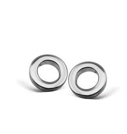 Jwls4u Jwls4u Earstuds Circle Silver JE002S