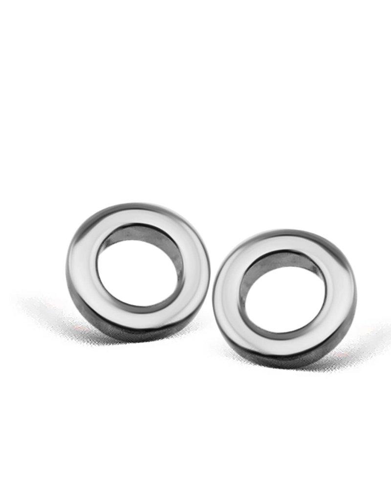 Jwls4u Jwls4u Earstuds Circle Silver