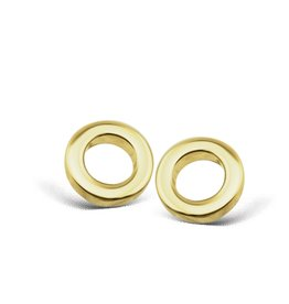 Jwls4u Jwls4u Earstuds Circle Goldplated