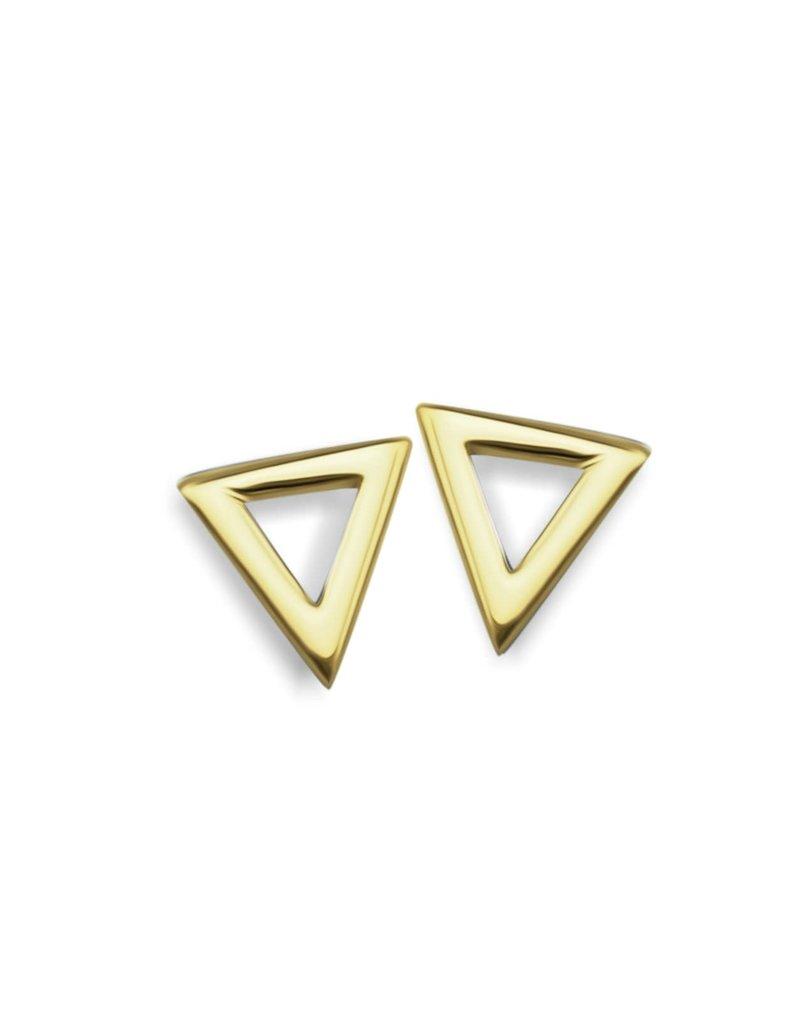 Jwls4u Jwls4u Earstuds Triangle Goldplated