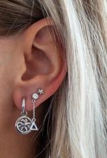 Jwls4u Jwls4u Earstuds with Hanger Triangle Silver