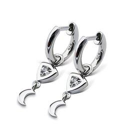 Jwls4u Jwls4u EarringsTrillion Moon Silver