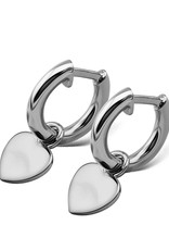 Jwls4u Jwls4u Earrings Heart Silver