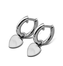 Jwls4u Jwls4u Earrings Heart Silver