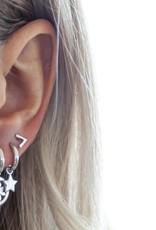 Jwls4u Jwls4u Earrings Star Silver