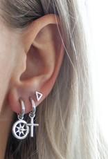 Jwls4u Jwls4u Earrings Sun Silver