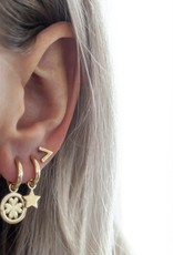 Jwls4u Jwls4u Earrings Star Goldplated