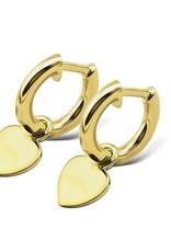 Jwls4u Jwls4u Earrings Heart Goldplated