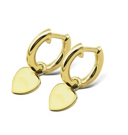 Jwls4u Jwls4u Earrings Heart Goldplated