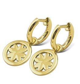 Jwls4u Jwls4u Earrings Lucky Leaf Goldplated