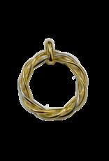 Gouden bicolor hanger - Rond Swirl
