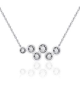 Gisser Zilveren collier - Zirkonia