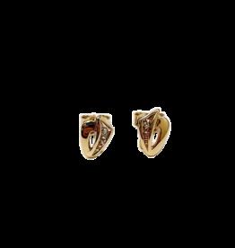 Occasions by Marleen Occasions by Marleen - 14 karaats - Gouden oorknoppen - Bicolor - Diamant