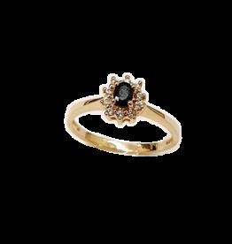 Occasions by Marleen Occasions by Marleen - 14 karaats - Gouden ring - Entourage - Zirkonia-Blauwsaffier - Maat 16.5