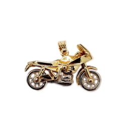 Occasions by Marleen Occasions by Marleen - 14 karaats - Gouden bedel - Bicolor - Motor