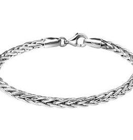 Zilveren armband - Gerhodineerd - Vossestaart - 4,0 mm - 19 cm