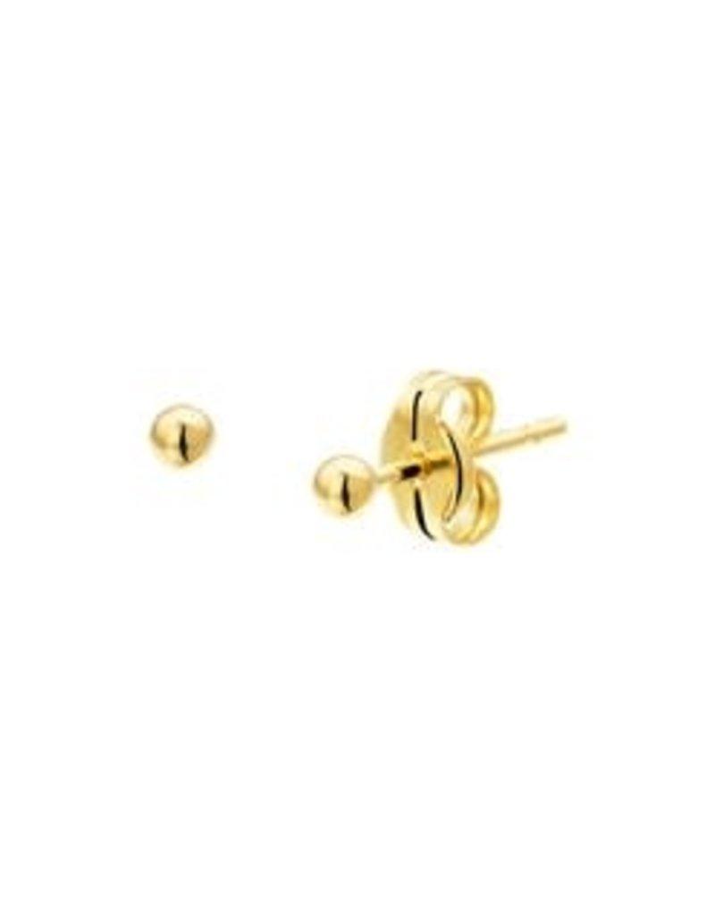 Gouden bol oorknoppen - 14 karaats - Glad - 2.0 mm