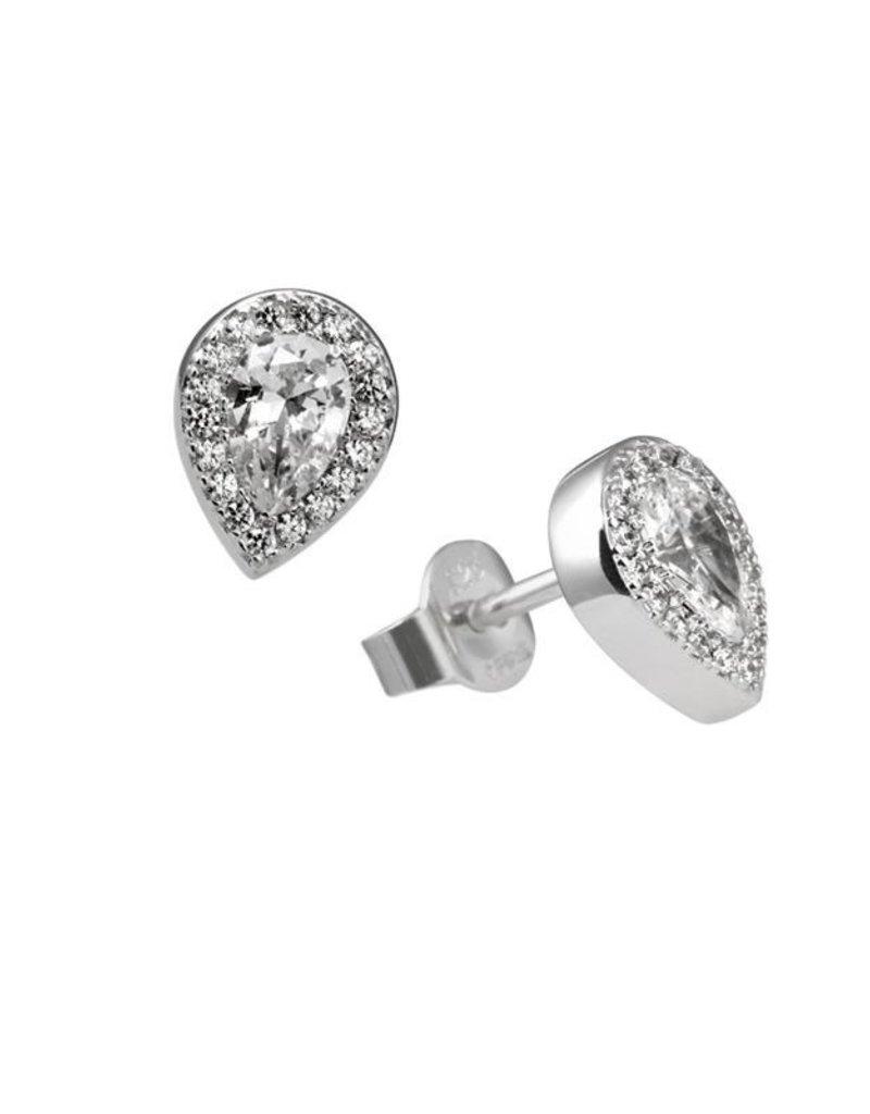 Diamonfire Diamonfire - Zilveren oorknoppen - Zirkonia's