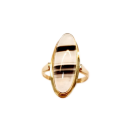 Occasions by Marleen Occasions by Marleen - Gouden ring - Streepagaat - Maat 17+